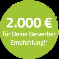 2000 Euro für deine Bewerber Empfehlung*